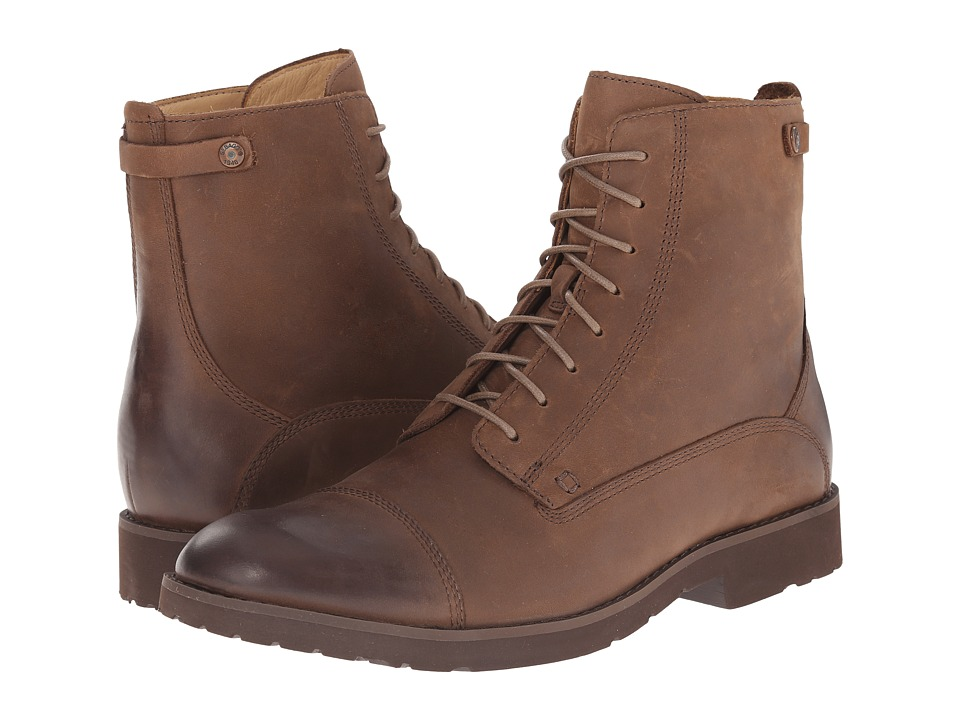 Sebago Rutland Lace Up Boot (Medium Brown Leather) Men
