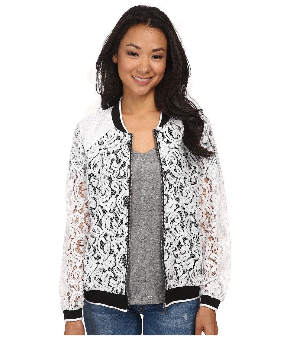 kensie - Luxurious Lace Jacket KS4K2208 (White Combo) Women's Jacket
