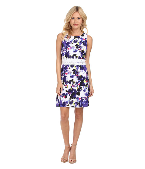 kensie - Pretty Painting Dress KS4K7476 (Imperial Purple Combo) Women's Dress
