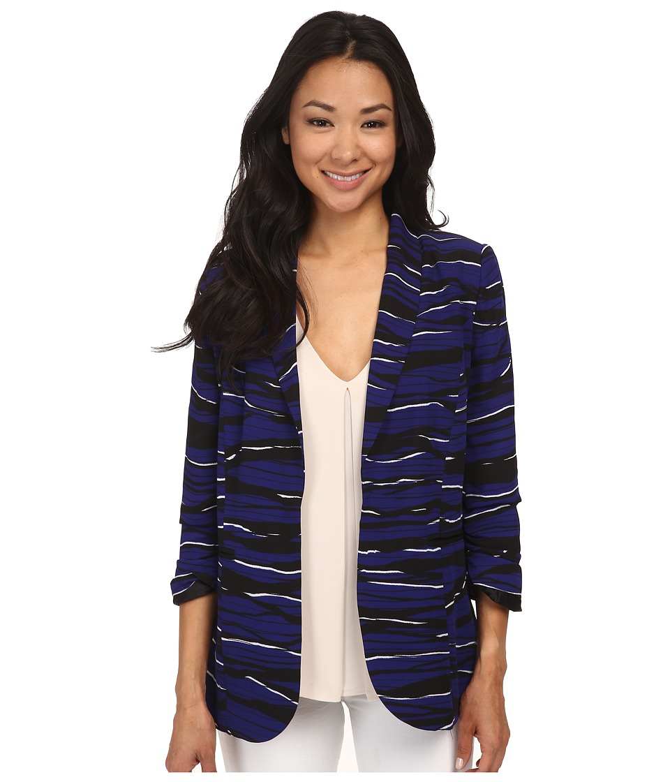 kensie - Stacked Lines Jacket KS4K2096 (Imperial Purple Combo) Women's Jacket