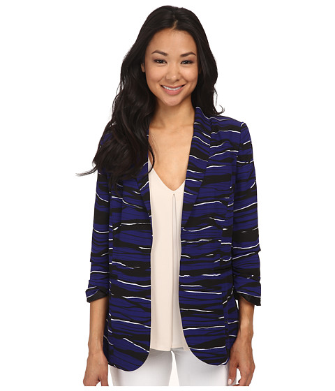 kensie - Stacked Lines Jacket KS4K2096 (Imperial Purple Combo) Women