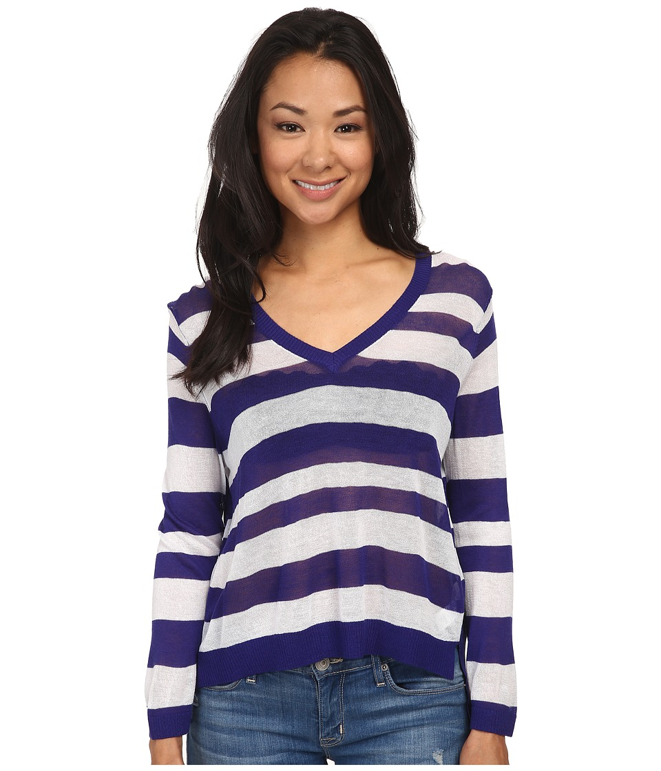 kensie - Sheer Sweater KS4K5741 (Imperial Purple Combo) Women's Sweater