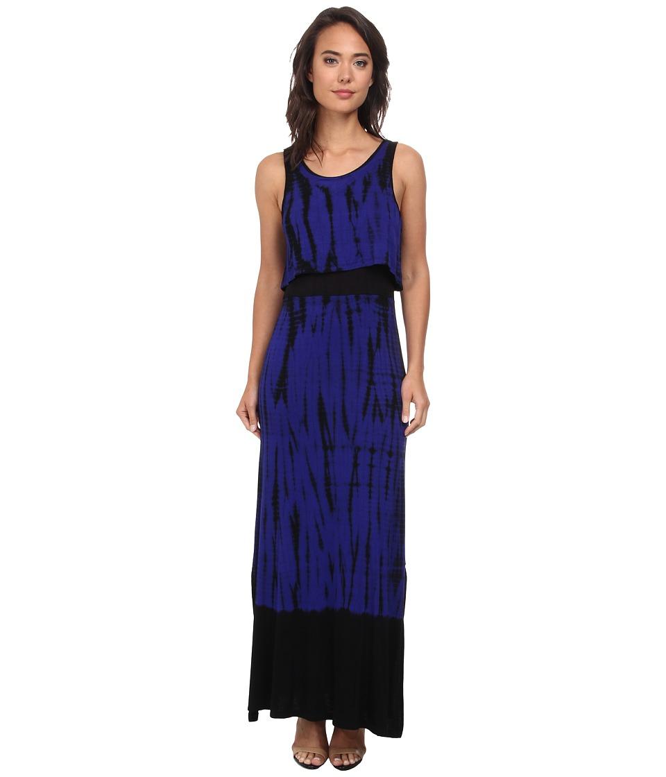 kensie - Dip Dyed Tie-Dye Vertabrae Dress KS4K7551 (Imperial Purple Combo) Women