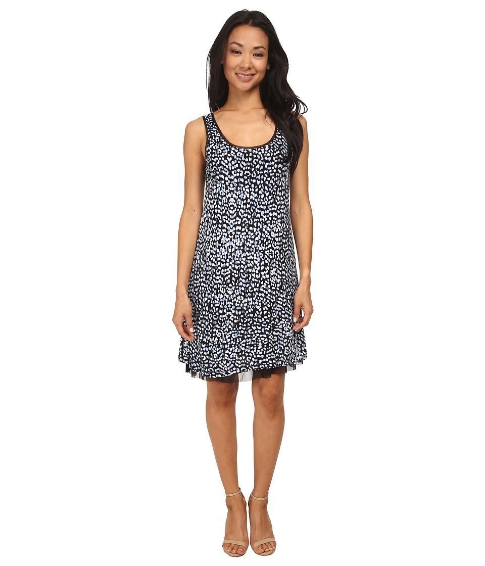 kensie - Etchy Scratched Spots Dress KS4P7554 (Peri) Women's Dress