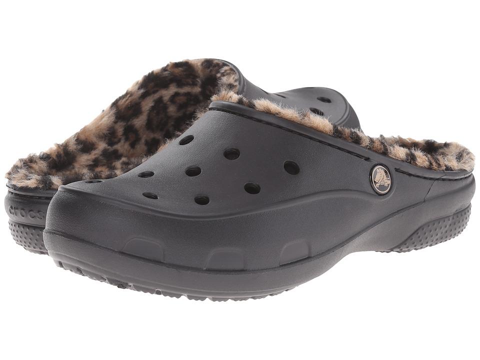 Crocs Freesail Loeopard Lined Clog (Black/Gold) Women