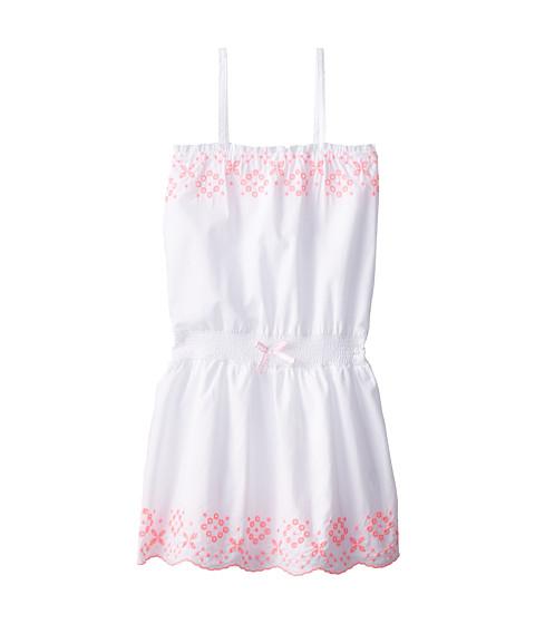 Tommy Hilfiger Kids - Embroidered Hem Dress (Big Kids) (White) Girl
