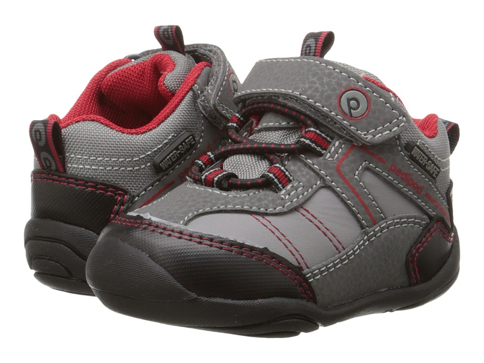 pediped - Max Grip n Go (Toddler) (Grey) Boy's Shoes