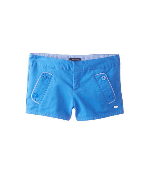 Tommy Hilfiger Kids - Solid Twill Shorts (Little Kids/Big Kids) (Palace Blue) Girl