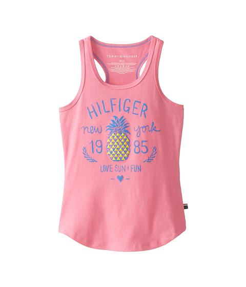 Tommy Hilfiger Kids - Pineapple Tank Top (Big Kids) (Dog Rose) Girl