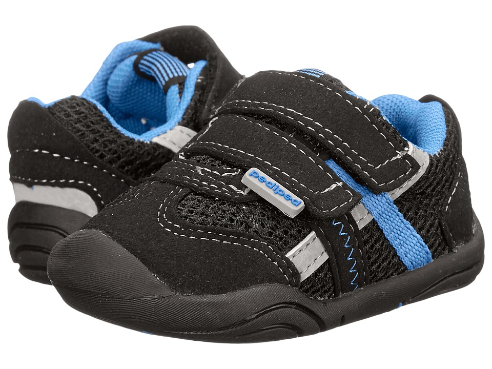 pediped - Gehrig Grip n Go (Toddler) (Black Sky) Boy's Shoes
