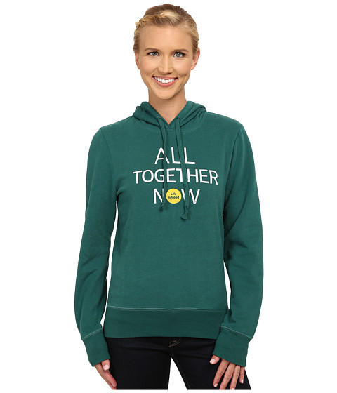 Life is good - Go-To Hoodie (Hunter Green) Women's Sweatshirt