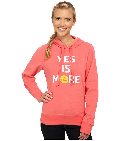 Life is good - Go-To Hoodie (Sunny Coral) Women's Sweatshirt