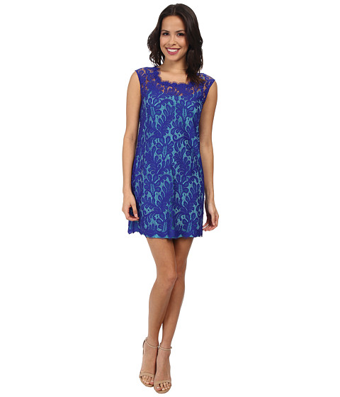 Nicole Miller - Paisley Poppy Shift Dress (Blue/Turquoise) Women