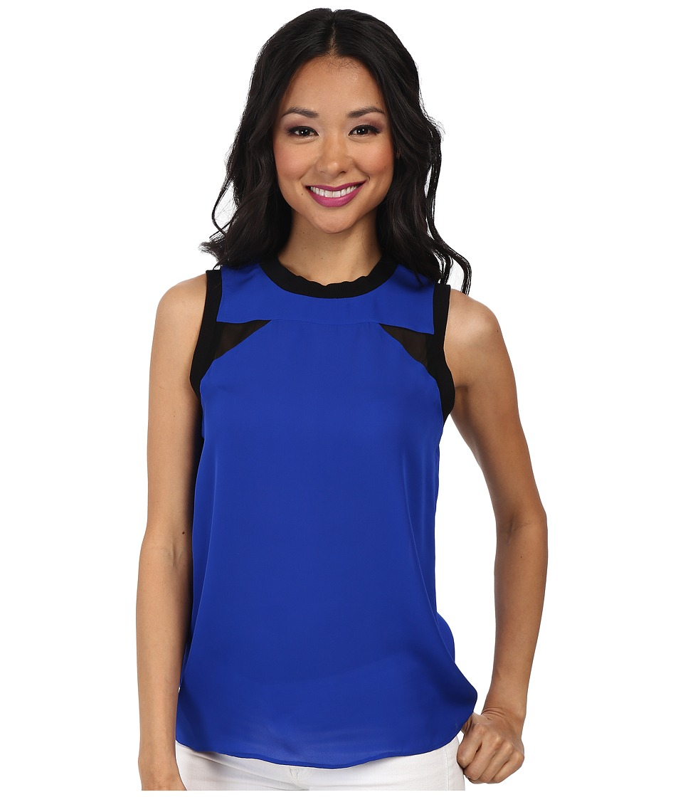 Nicole Miller - Caryn Insert-Lovers Top (Cataline Blue) Women's Sleeveless
