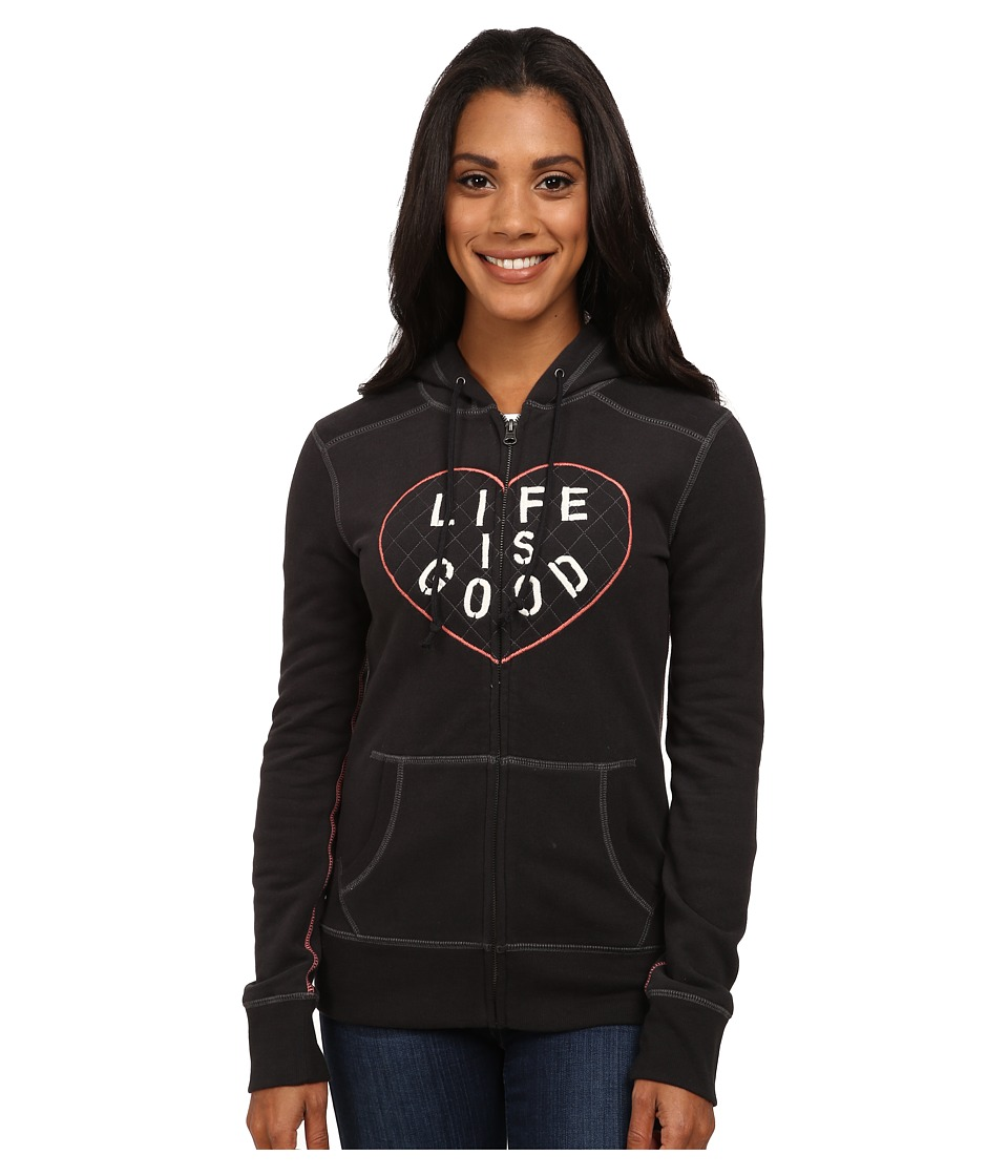 Life is good - All Good Zip Hoodie (Night Black 1) Women