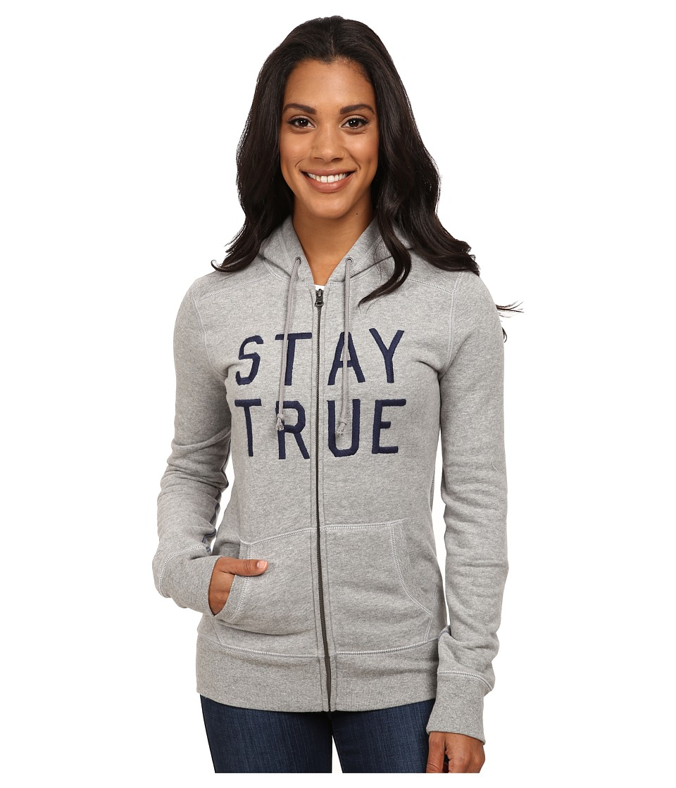 Life is good - All Good Zip Hoodie (Heather Grey 1) Women