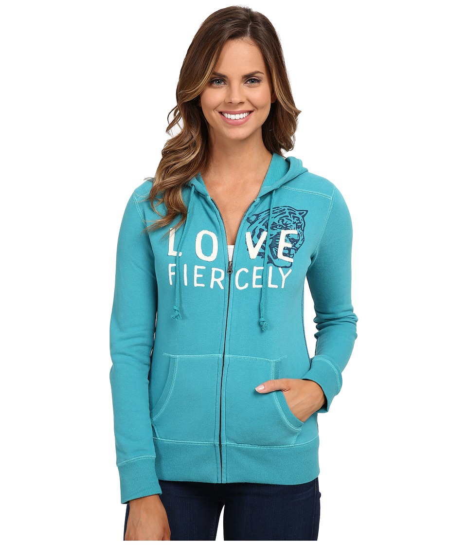 Life is good - All Good Zip Hoodie (Teal Blue) Women's Sweatshirt