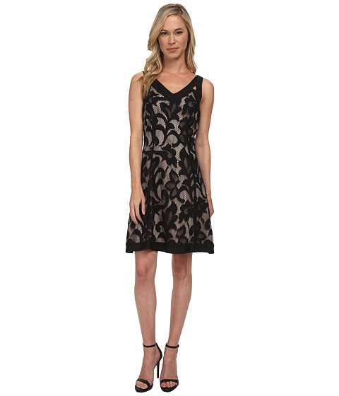 NIC+ZOE - Petite Free Lace Dress (Black Onyx) Women's Dress