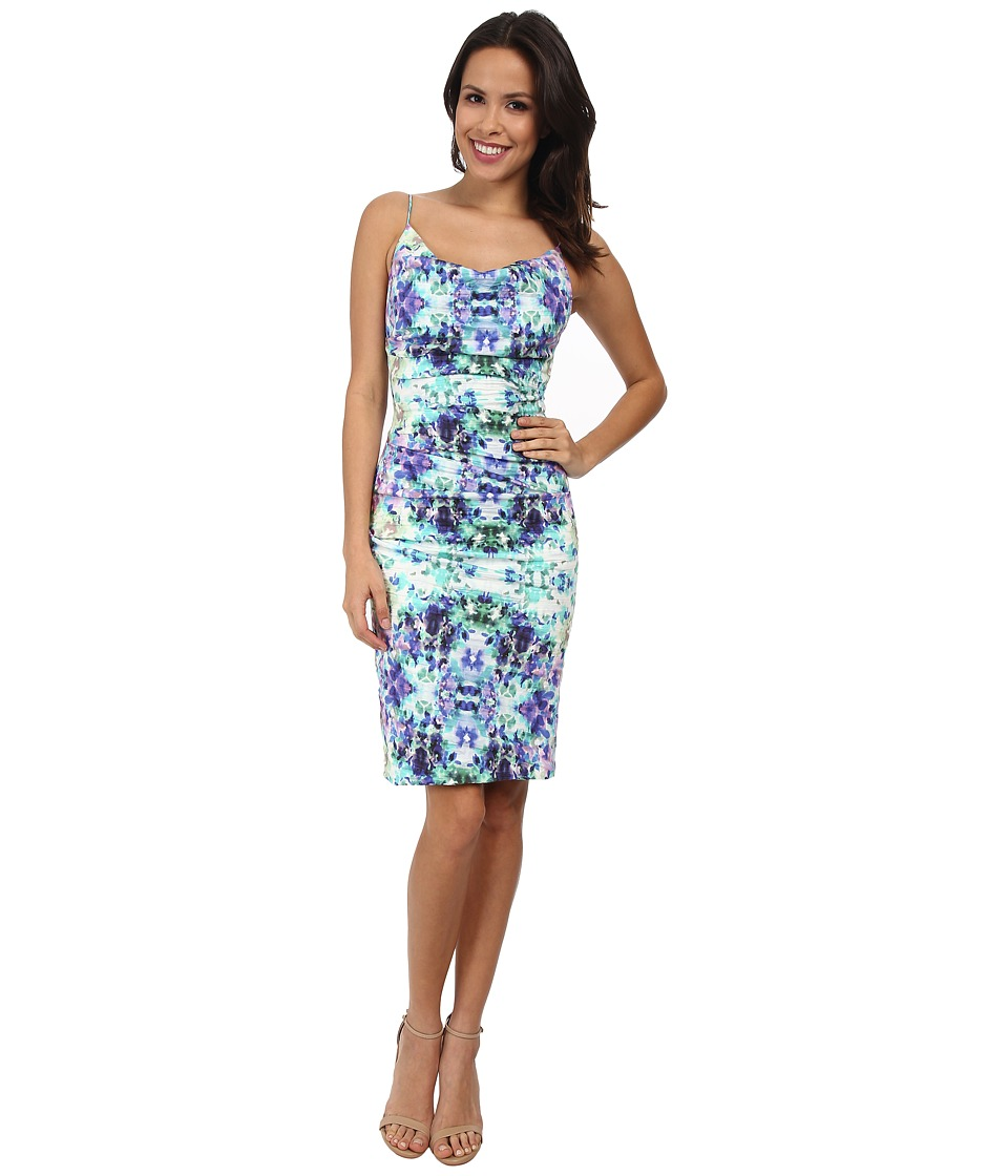 Nicole Miller - Carly Water Lily Dress (Blue/Multi) Women's Dress