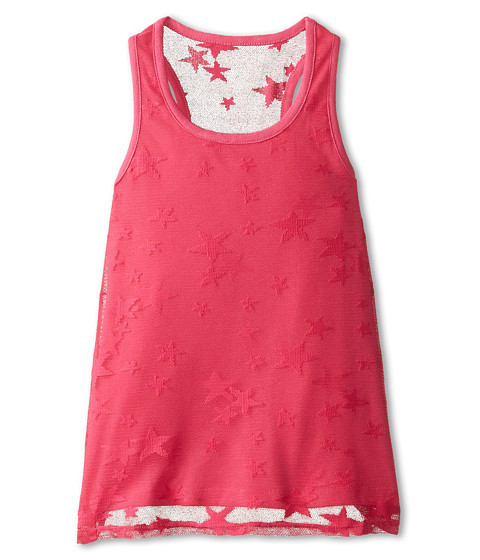 Tommy Hilfiger Kids - Lace Overlay Tank Top (Big Kids) (Lollipop Pink) Girl's Sleeveless