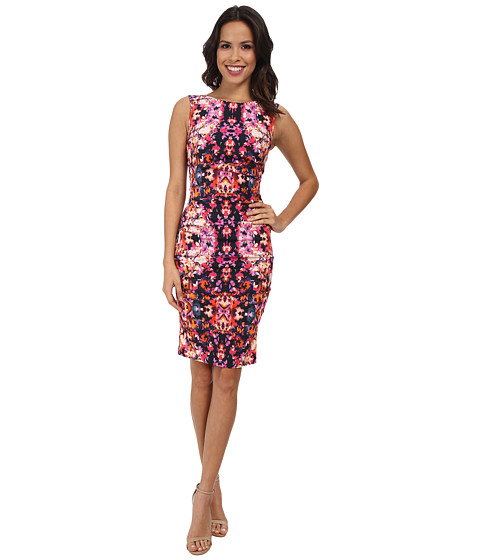 Nicole Miller - Lauren Water Lily Stretch Dress (Multi) Women
