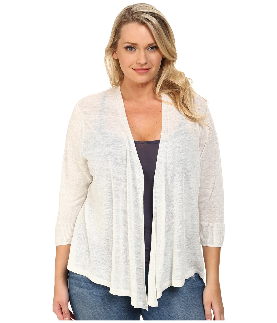 NIC+ZOE - Plus Size 4-Way Cardy (Milk White) Women's Sweater