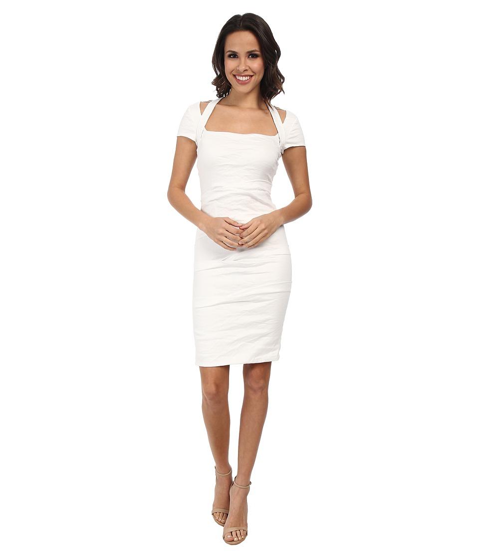 Nicole Miller - Mariana Cotton Metal Strappy Dress (White) Women