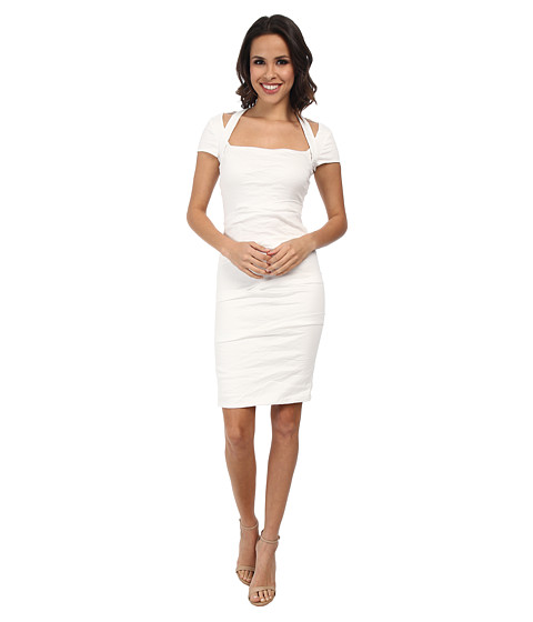 Nicole Miller - Mariana Cotton Metal Strappy Dress (White) Women's Dress