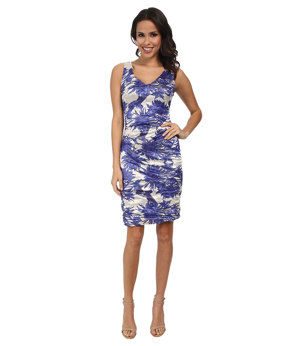 Nicole Miller - Kenna Chinoiserie Techno Dress (Blue Multi) Women's Dress