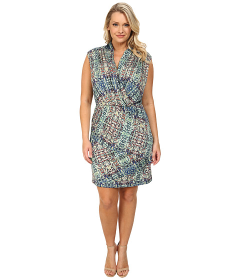 NIC+ZOE - Plus Size Urban Safari Dress (Multi) Women's Dress
