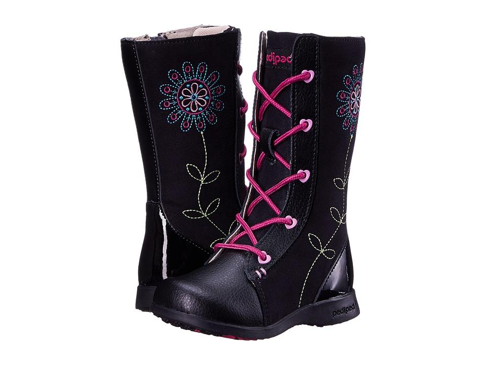 pediped - Kalena Flex (Toddler/Little Kid) (Black) Girl's Shoes