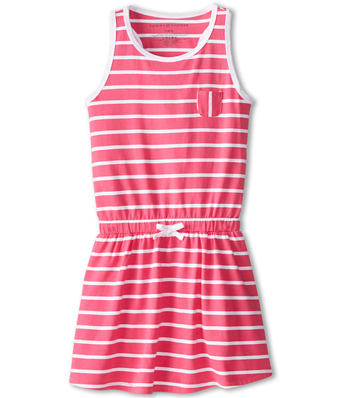 Tommy Hilfiger Kids - Cross Back Dress (Big Kids) (Lollipop Pink) Girl
