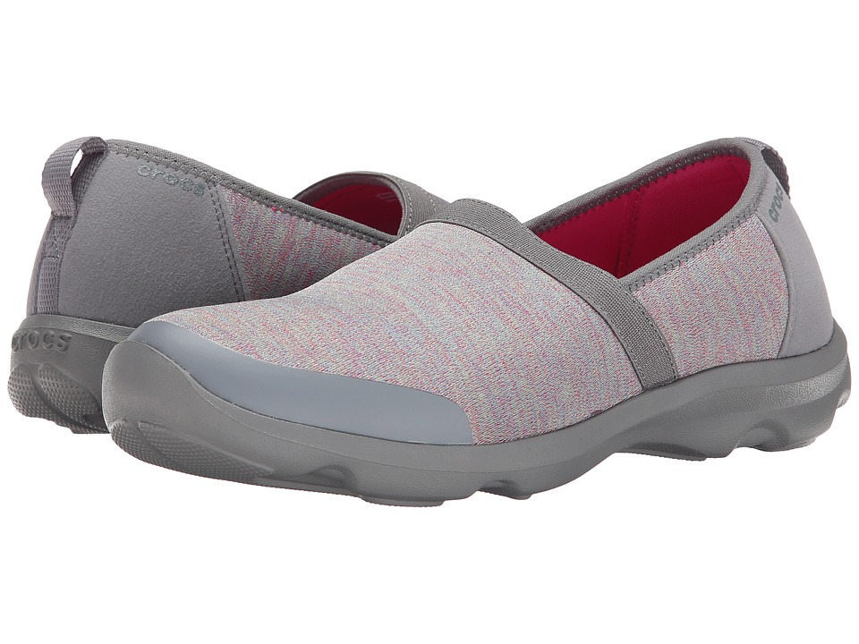 Crocs - Duet Busy Day 2.0 Heathered Multi A/Line (Heather Grey/Charcoal) Women's Shoes