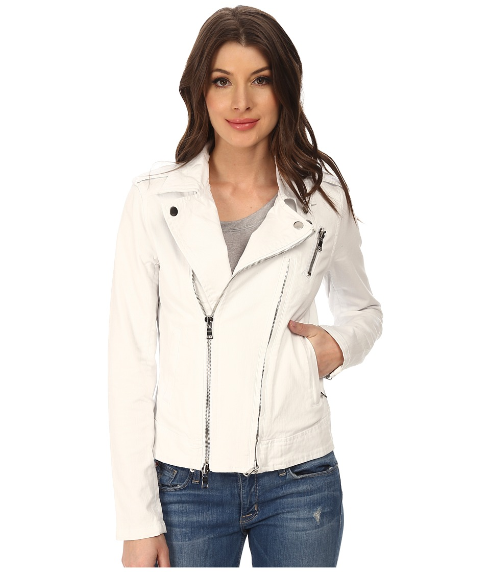 Hudson - Cynic Moto Jacket (White) Women's Coat