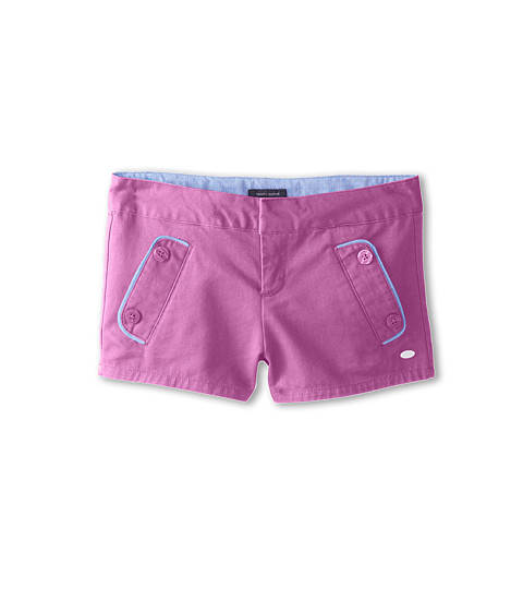 Tommy Hilfiger Kids - Solid Twill Shorts (Little Kids/Big Kids) (Violet Song) Girl