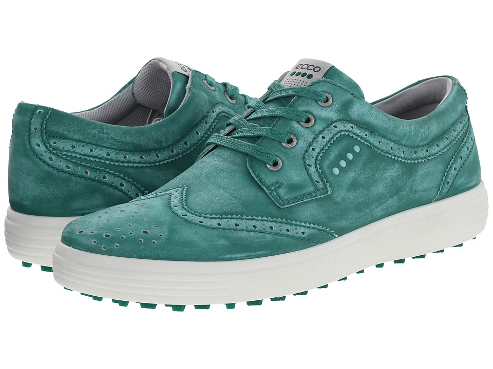 ECCO Golf - Casual Hybrid Wingtip (Lawn Green) Men's Golf Shoes