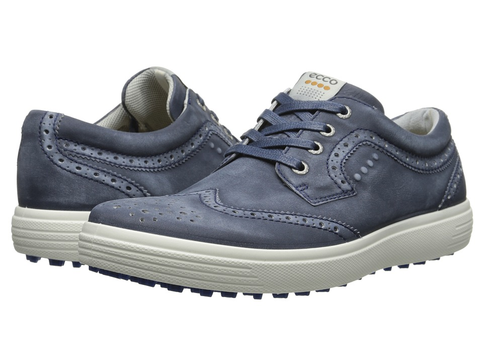 ECCO Golf - Casual Hybrid Wingtip (True Navy) Men's Golf Shoes