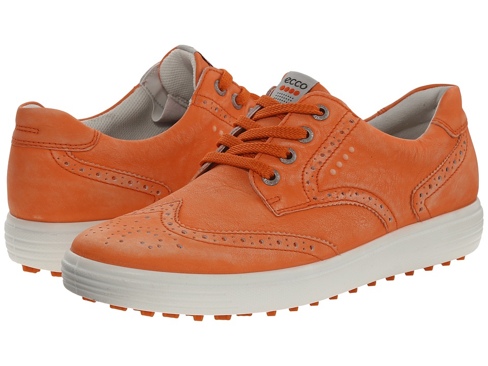 ECCO Golf - Casual Hybrid Wingtip (Golden Poppy) Women's Golf Shoes
