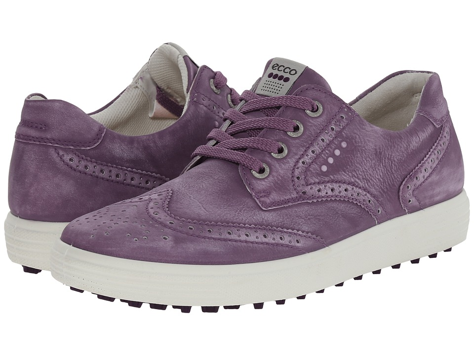 ECCO Golf - Casual Hybrid Wingtip (Grape) Women's Golf Shoes