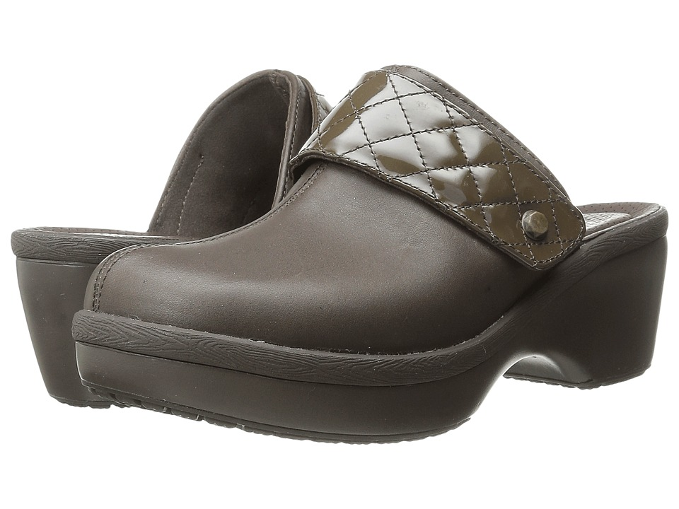 Crocs - Cobbler Leather Clog (Espresso/Espresso) Women's Clog/Mule Shoes