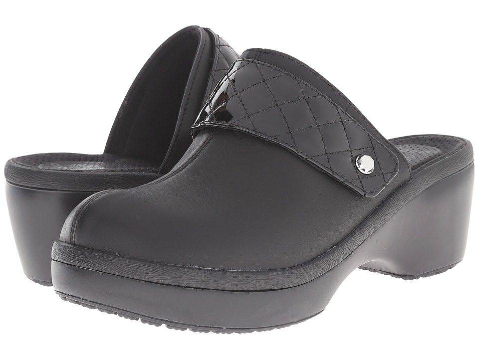 Crocs - Cobbler Leather Clog (Black/Black) Women