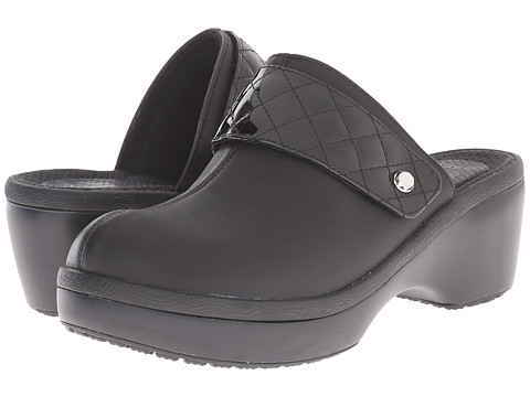 Crocs - Cobbler Leather Clog (Black/Black) Women's Clog/Mule Shoes