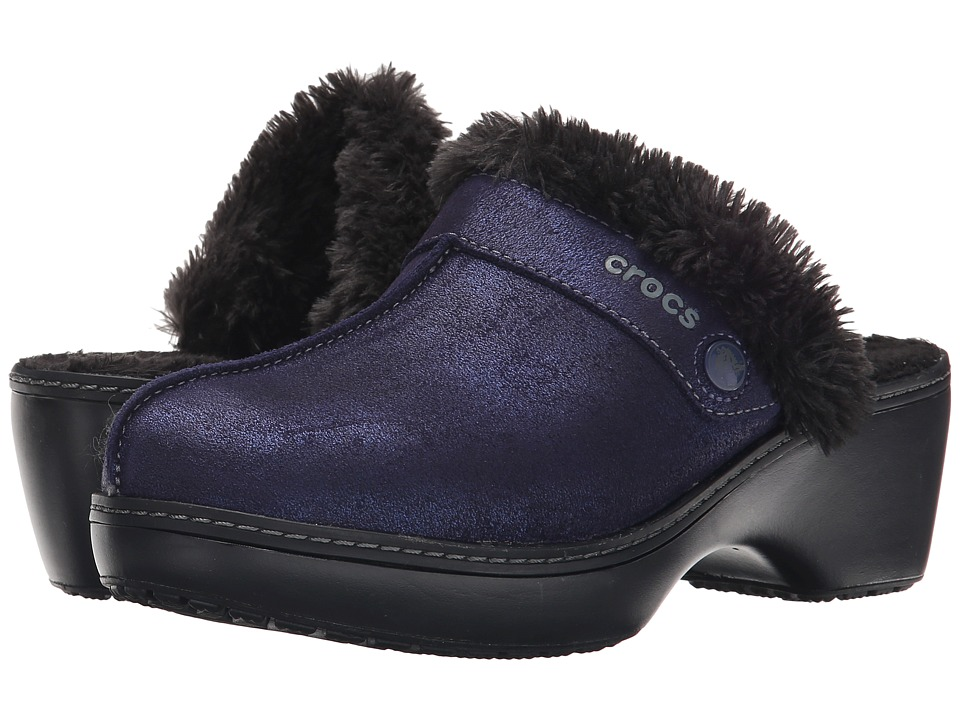 Crocs - Cobbler Shimmer Clog (Nautical Navy/Black) Women