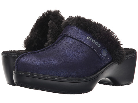 Crocs - Cobbler Shimmer Clog (Nautical Navy/Black) Women's Shoes