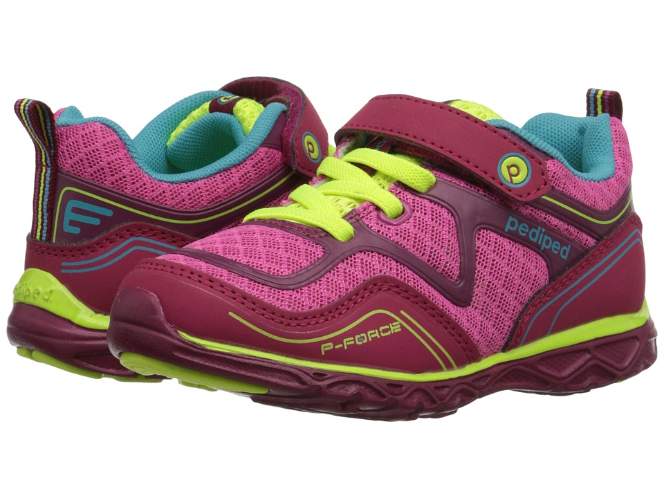 pediped - Force Flex (Toddler/Little Kid) (Fuchsia) Girls Shoes