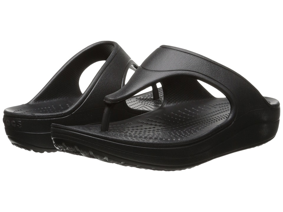 Crocs - Sloane Platform Flip (Black) Women's Sandals
