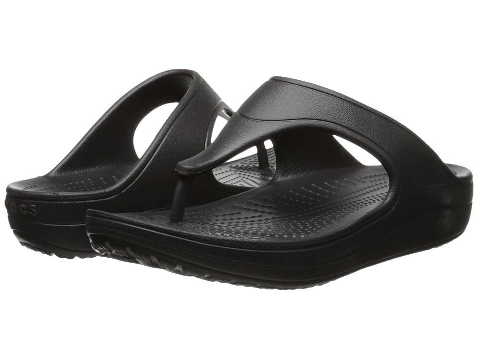 Crocs - Sloane Platform Flip (Black) Women's Sandals