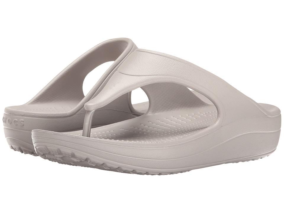 Crocs - Sloane Platform Flip (Platinum) Women's Sandals