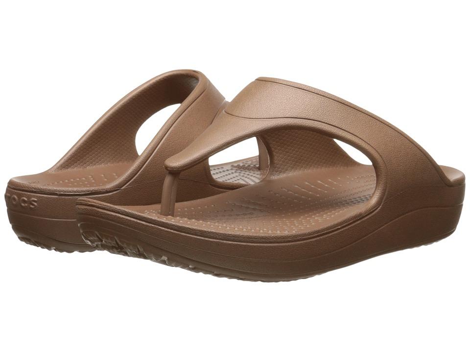 Crocs - Sloane Platform Flip (Bronze) Women's Sandals