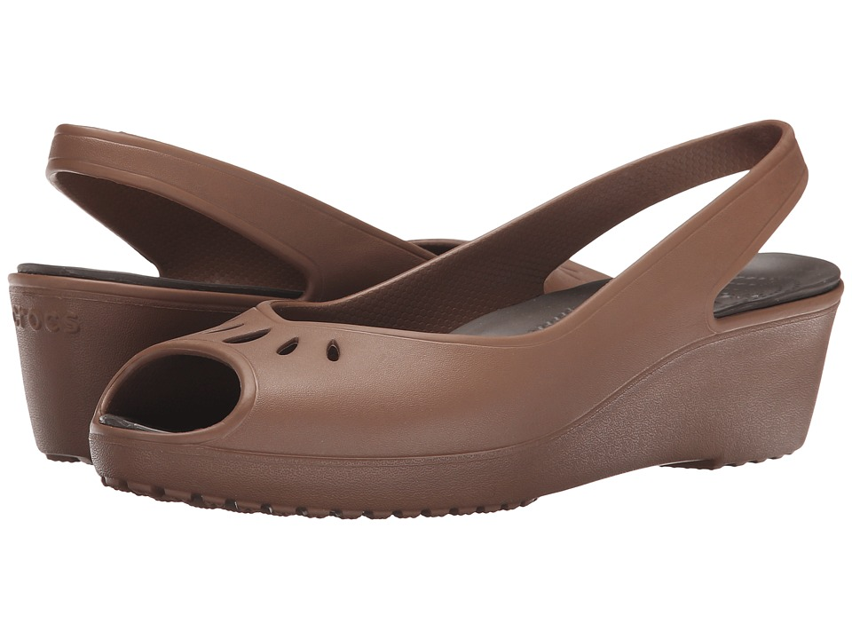 Crocs - Mabyn Mini Wedge (Bronze) Women's Wedge Shoes